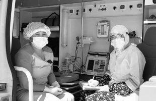 В Кош-Агаче работает мобильный пункт вакцинации